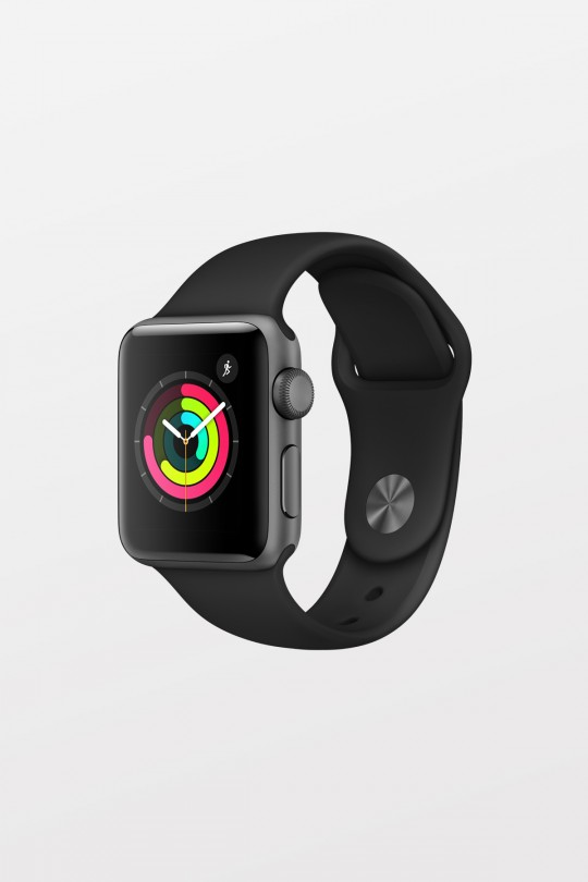 Apple Watch Series 3 GPS - 38mm - Space Grey Aluminium with Black Sport Band