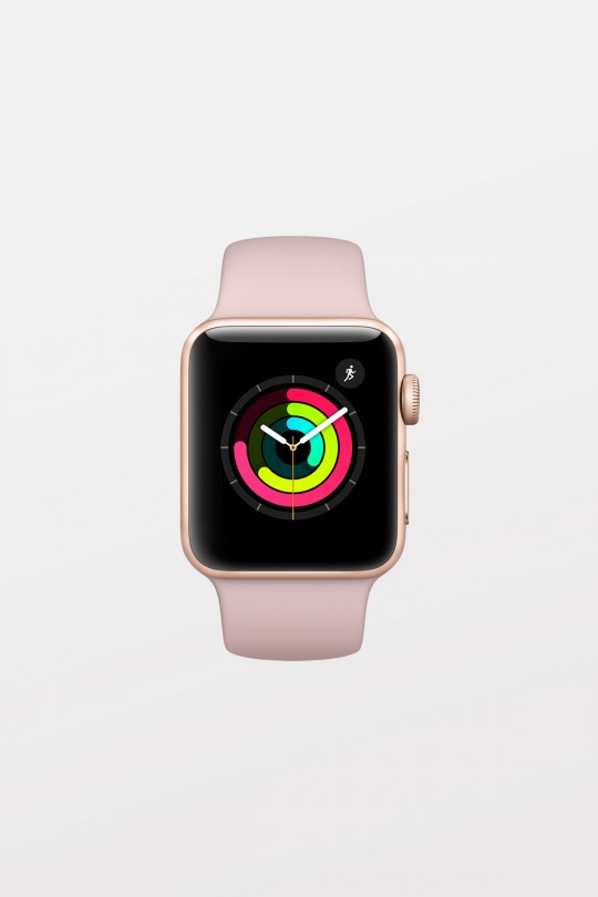 Apple Watch Series 3 GPS - 38mm - Gold Aluminium with Pink Sand Sport Band