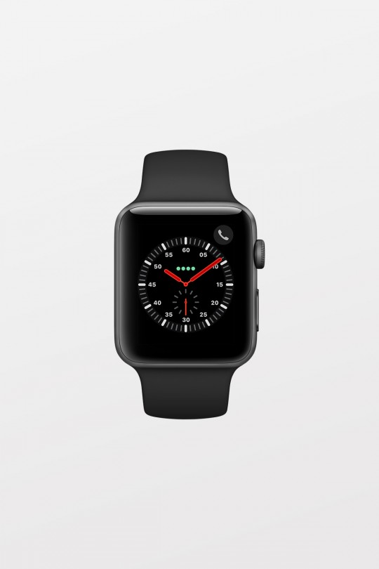 Apple Watch Series 3 GPS + Cellular - 38mm - Space Grey Aluminium with Black Sport Band