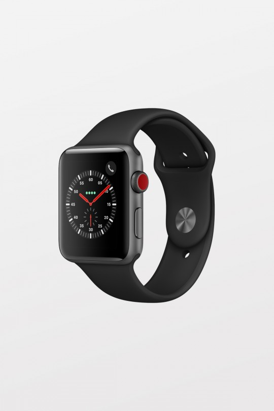 Apple Watch Series 3 GPS + Cellular - 42mm - Space Grey Aluminium with Black Sport Band