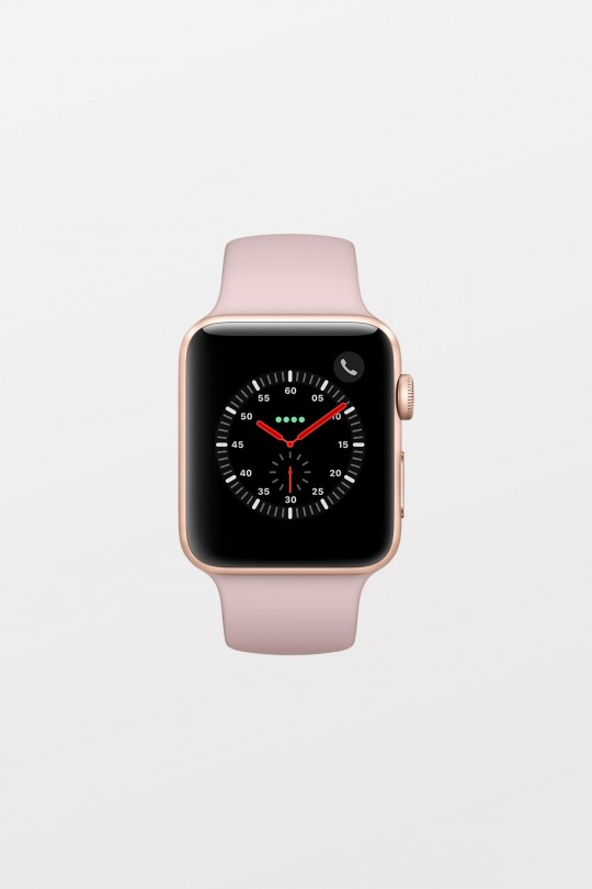 Apple Watch Series 3 GPS + Cellular - 38mm - Gold Aluminium with Pink Sand Sport Band