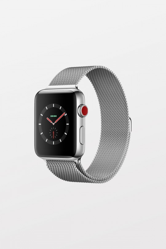 Apple Watch Series 3 GPS + Cellular - 42mm - Stainless Steel with Milanese Loop