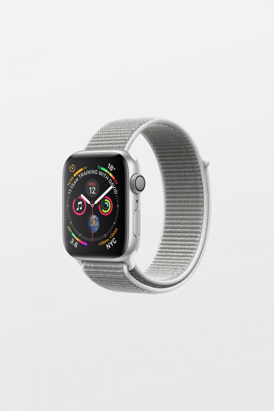 Apple Watch Series 4 - 40mm - Silver Aluminium Case with Seashell Sport Loop