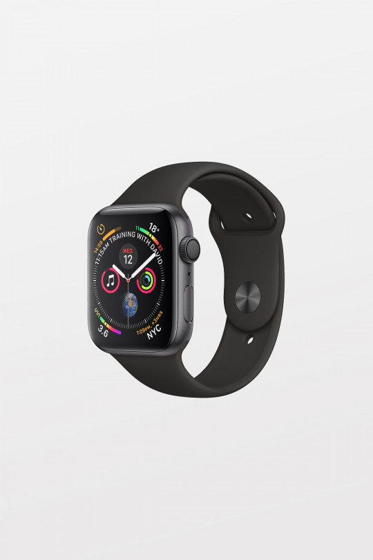 Apple Watch Series 4 - 44mm -  Space Grey Aluminium Case with Black Sport Band