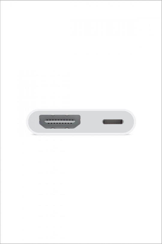 Apple Lightning Digital AV Adapter - HDMI and Lightning Supports both video and audio output Requires HDMI Cable sold Separately