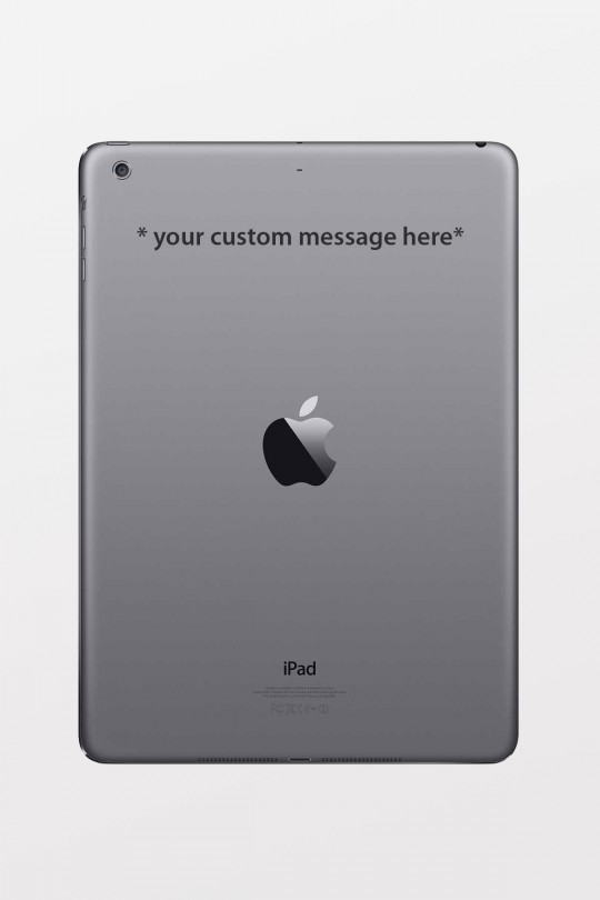 Personalised Laser Engraving - iPad