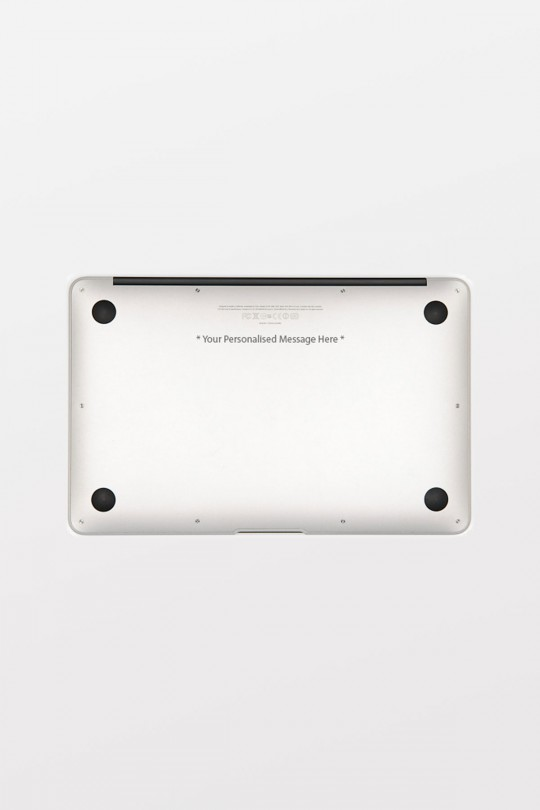 Laser Engraving service for MacBook: (insert text/font thickness here)