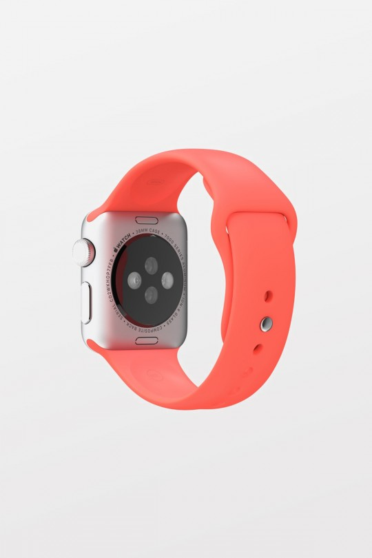 Apple Watch Sport 42mm - Silver Aluminium - Pink Sport Band - Refurbished