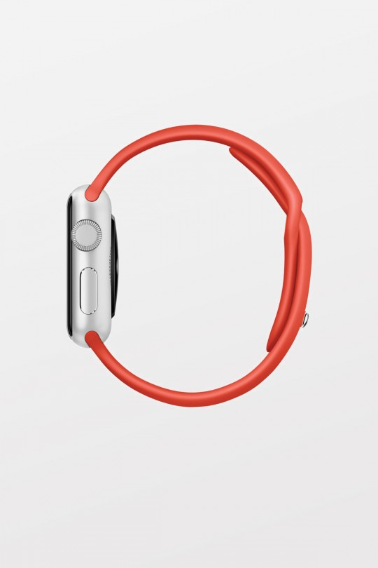 Apple Watch Sport 42mm - Silver Aluminium - Orange Sport Band - Refurbished