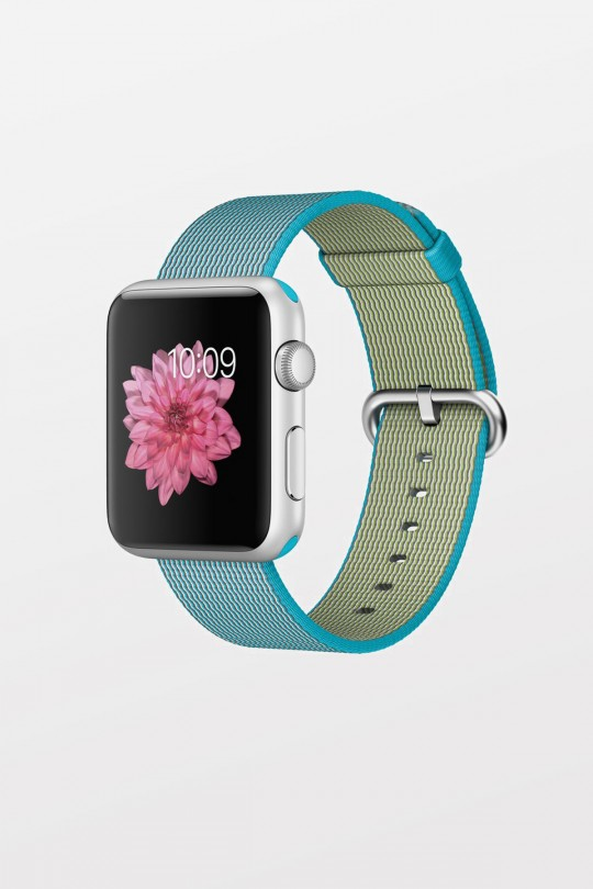 Apple Watch Sport 42mm - Silver Aluminium - Scuba Blue Woven Nylon Band - Refurbished