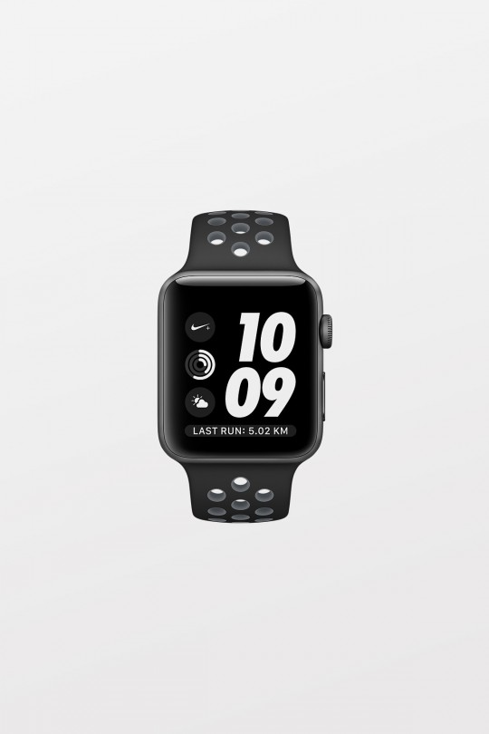 Apple Watch Series 2 Nike+ - 38mm - Space Grey Aluminium, Black/Cool Grey Nike Sport Band - Refurbished