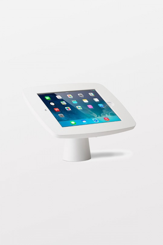 Tryten iPad Kiosk (White / White Faceplate / No Home Button access) Wall Mountable