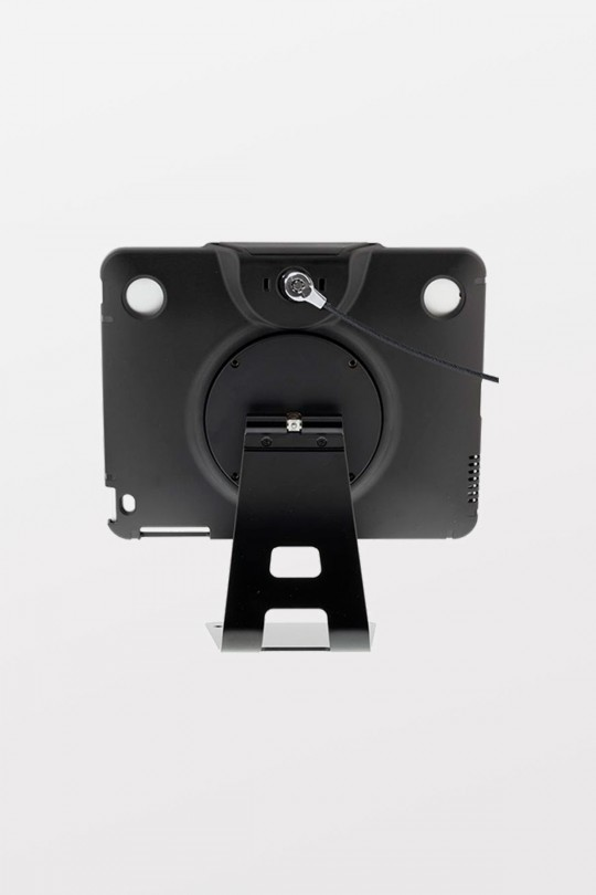 Tryten iPad Flip Stand (Black) - Comes with Cable Lock and 2 user keys. Compatible with iPad 2-4 & Air 1 & 2 with air adapter kit (included).