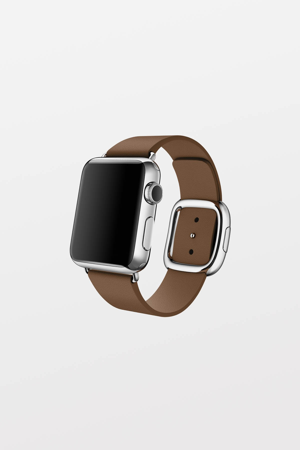 Apple Watch 38mm - Stainless Steel - Brown Modern Buckle (Small)