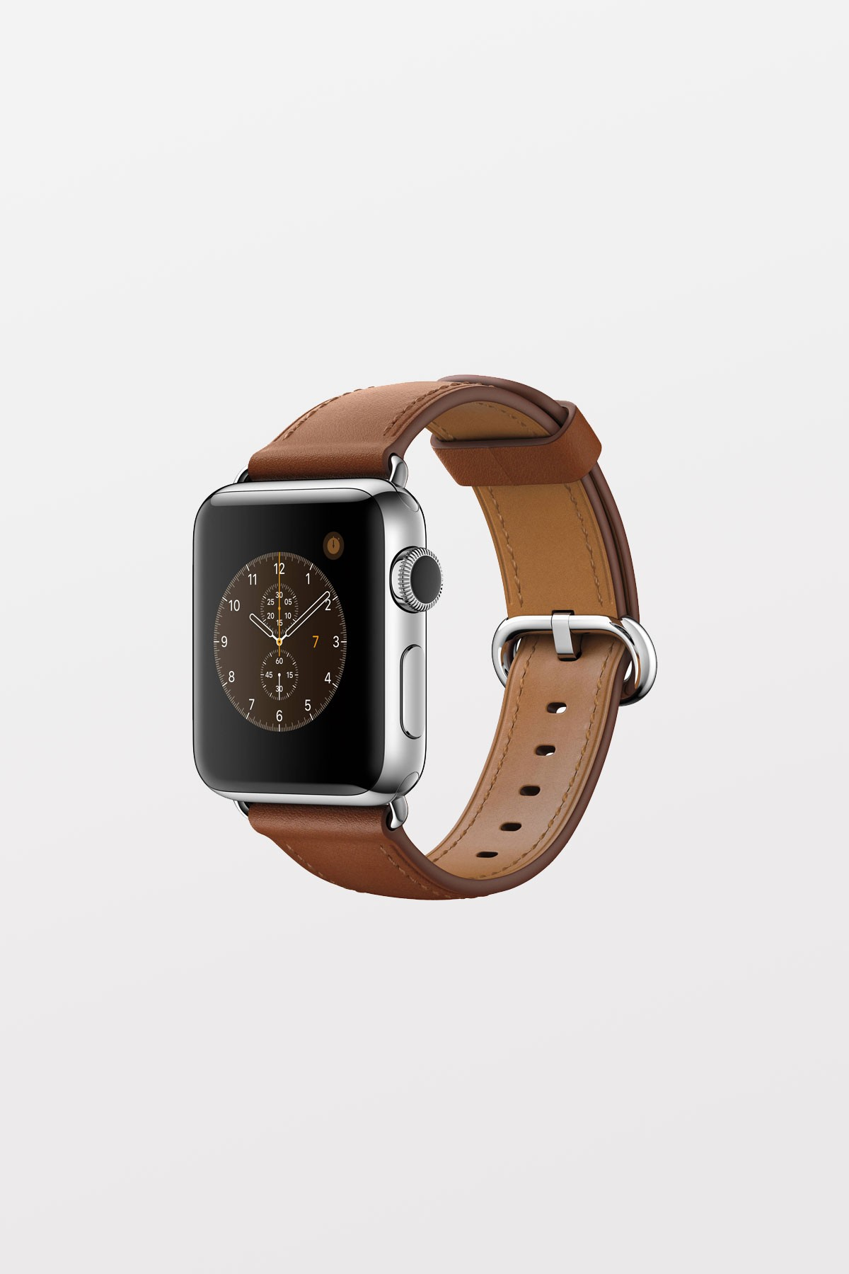 Apple Watch 38mm - Stainless Steel - Saddle Brown Classic Buckle - Refurbished