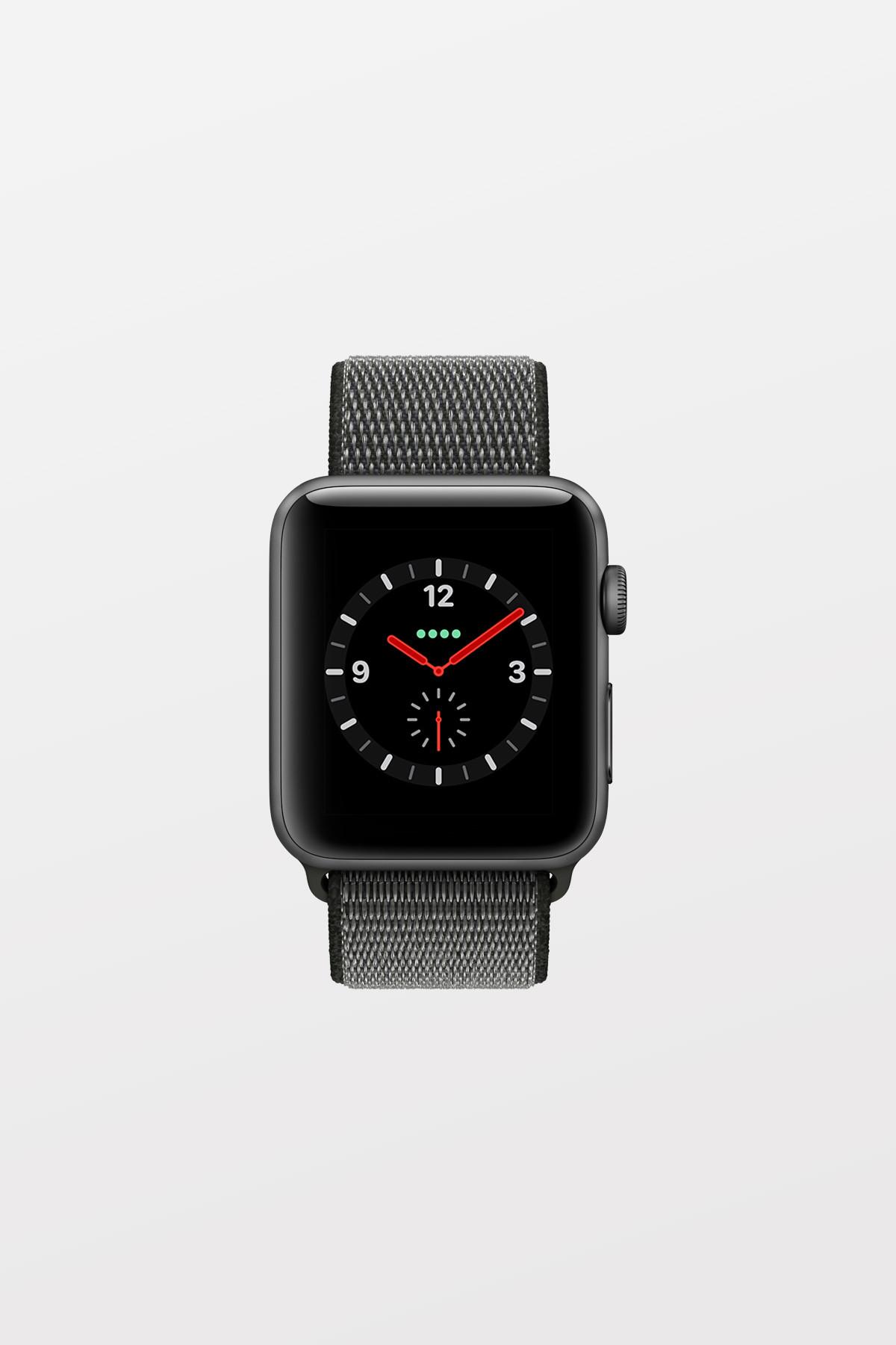 Apple Watch Series 3 Cellular - 42mm - Space Grey Aluminium Case with Black Sport Loop