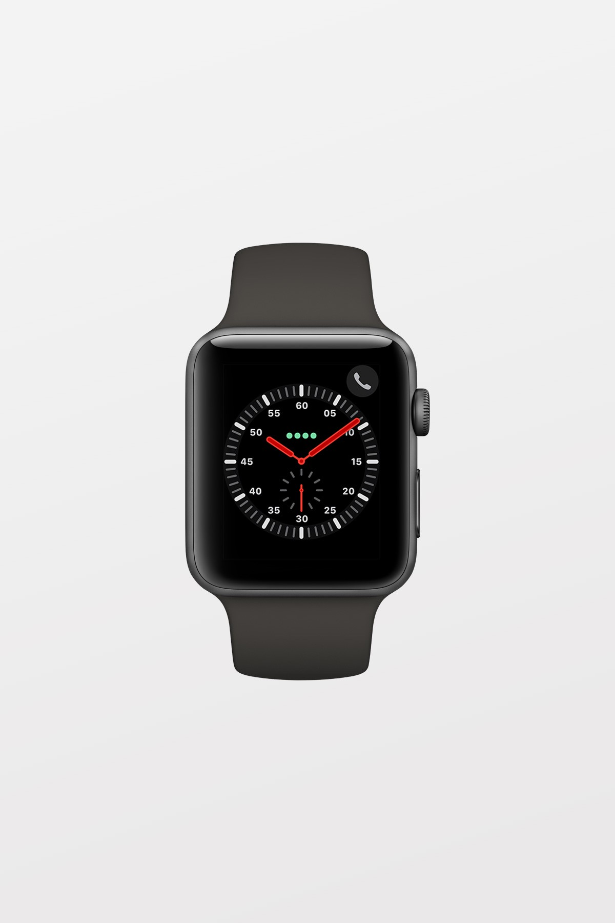 Apple Watch Series 3 GPS + Cellular - 38mm - Space Grey Aluminium with Grey Sport Band