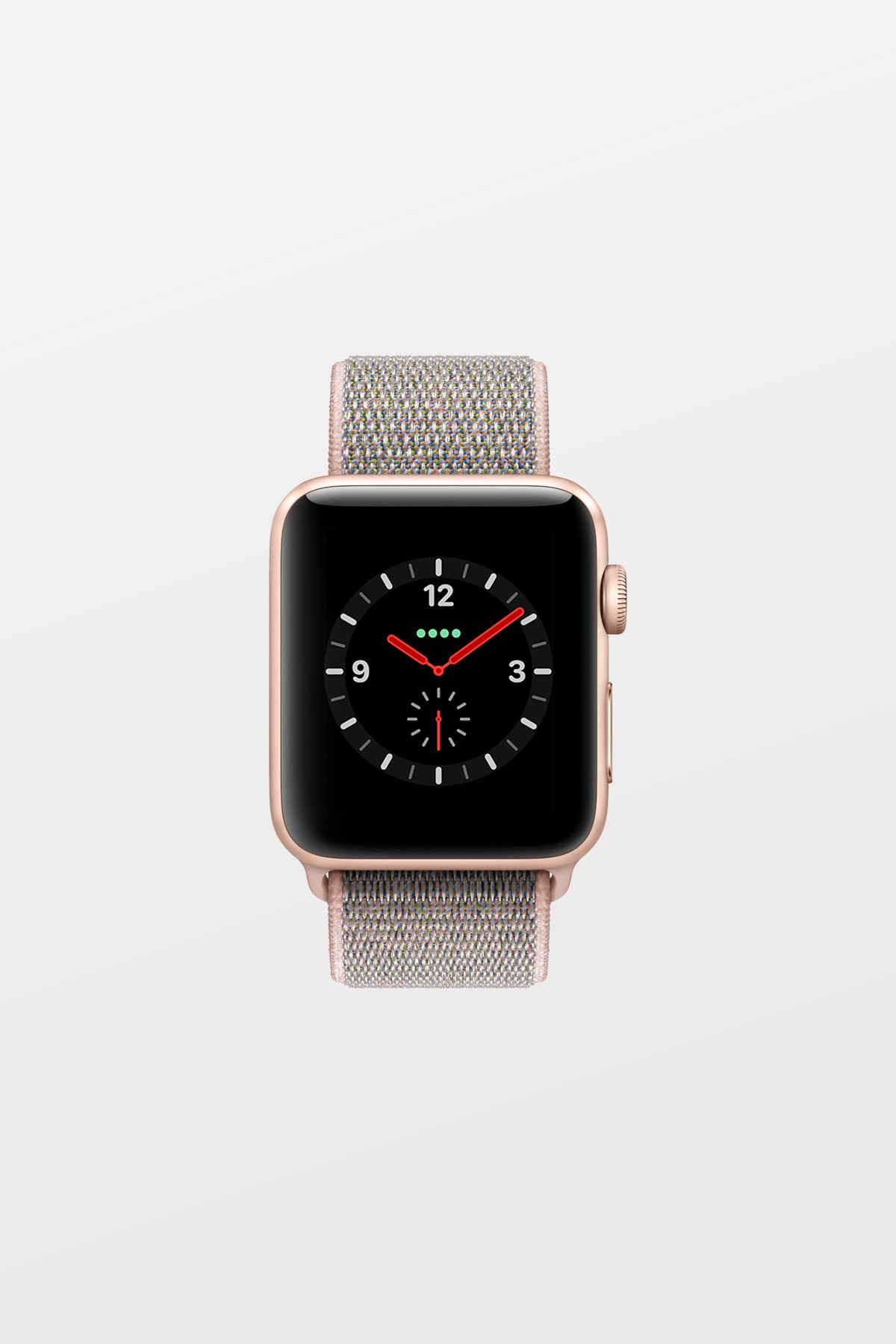 Apple Watch Series 3 GPS + Cellular - 42mm - Gold Aluminium with Pink Sand Sport Loop