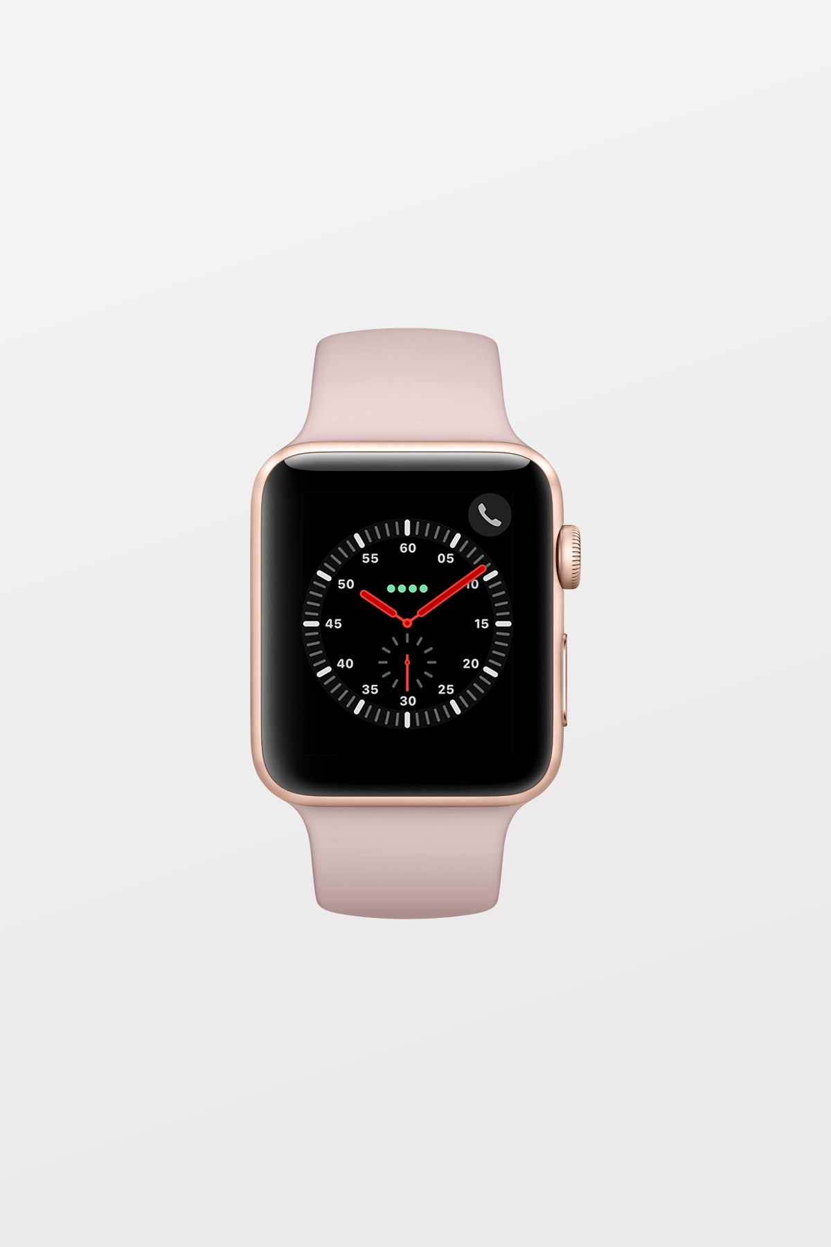 Apple Watch Series 3 GPS + Cellular - 42mm - Gold Aluminium with Pink Sand Sport Band