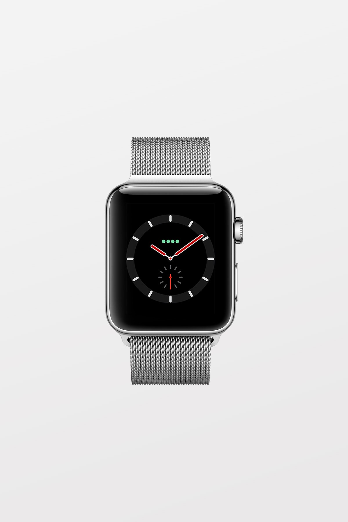 Apple Watch Series 3 GPS + Cellular - 38mm - Stainless Steel Case with Milanese Loop