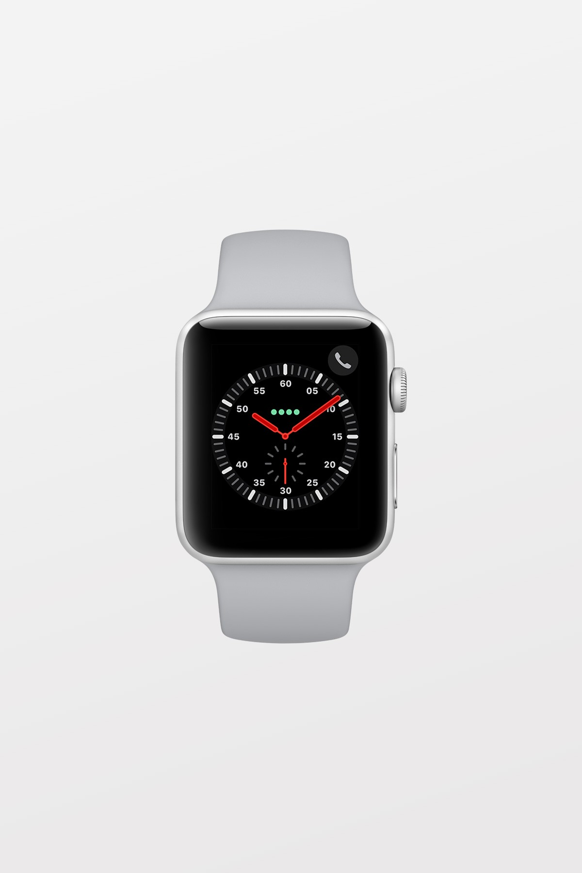 Apple Watch Series 3 GPS + Cellular - 38mm - Stainless Steel Case with Soft White Sport Band