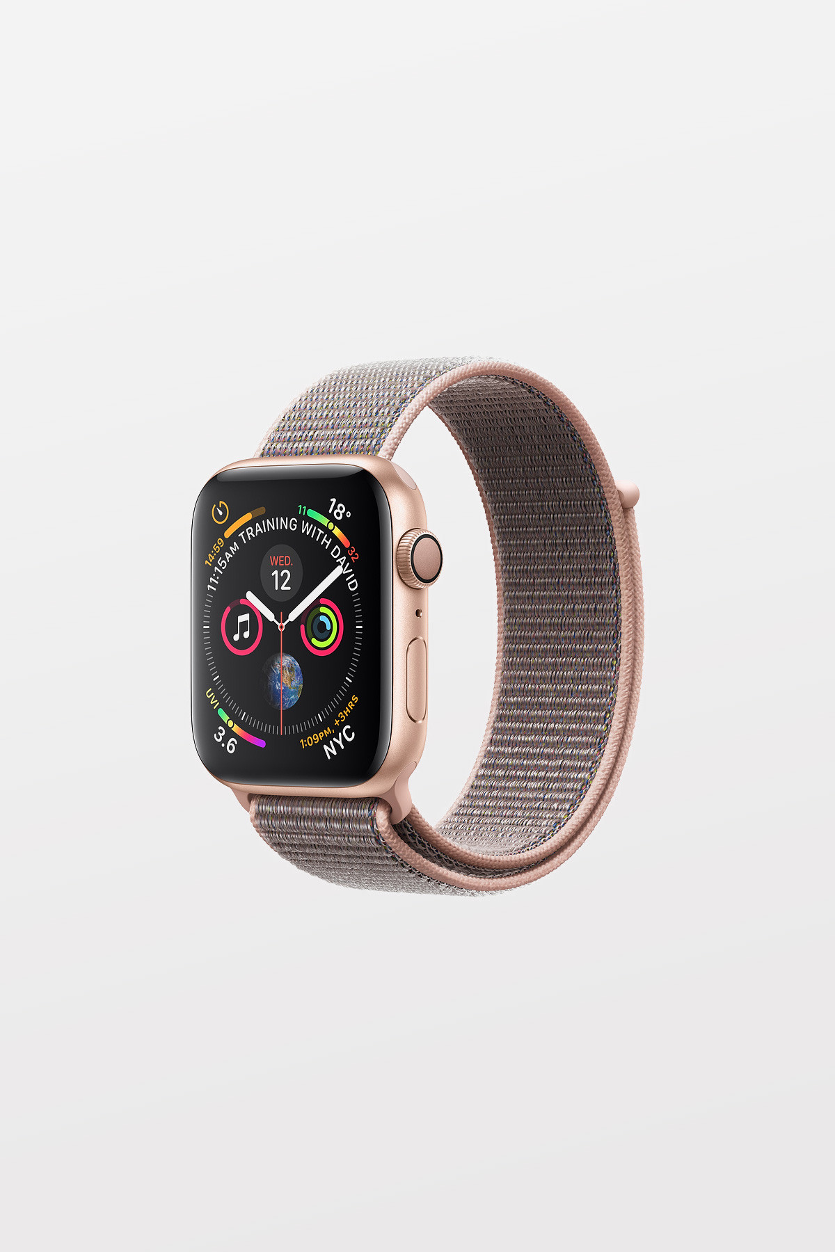 Apple Watch Series 4 - 44mm -  Gold Aluminium Case with Pink Sand Sport Loop