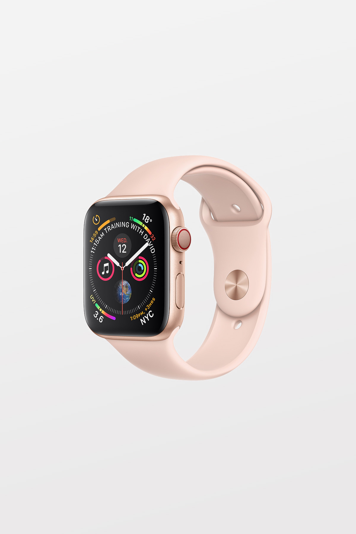 Apple Watch Series 4 Cellular - 40mm - Gold Aluminium Case with Pink Sand Sport Band