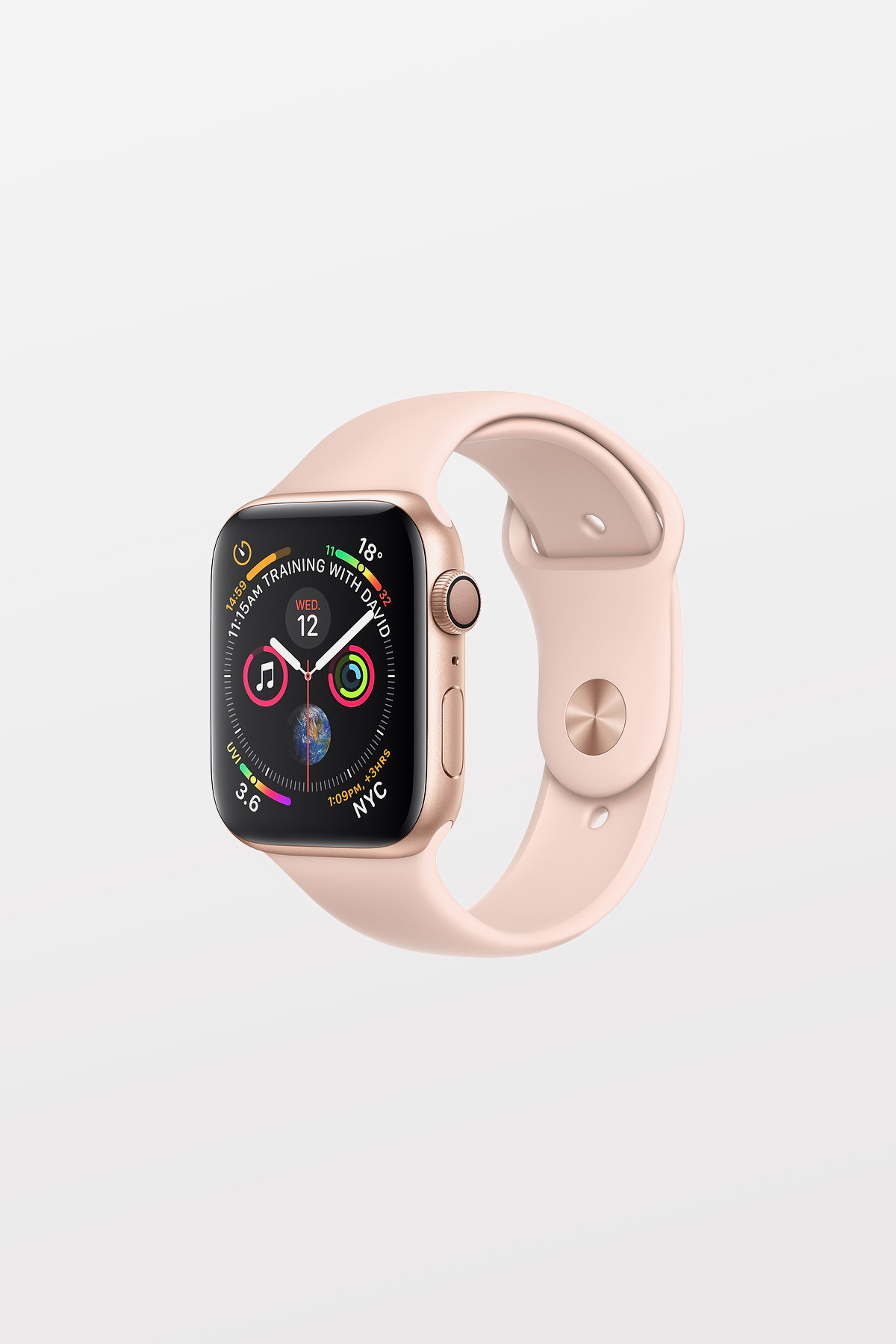 Apple Watch Series 4 - 44mm -  Gold Aluminium Case with Pink Sand Sport Band