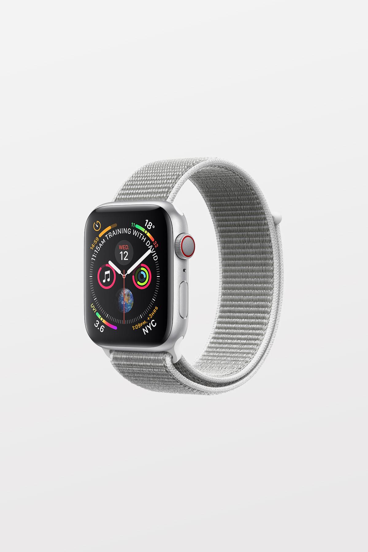 Apple Watch Series 4 Cellular - 40mm - Silver Aluminium Case with Seashell Sport Loop