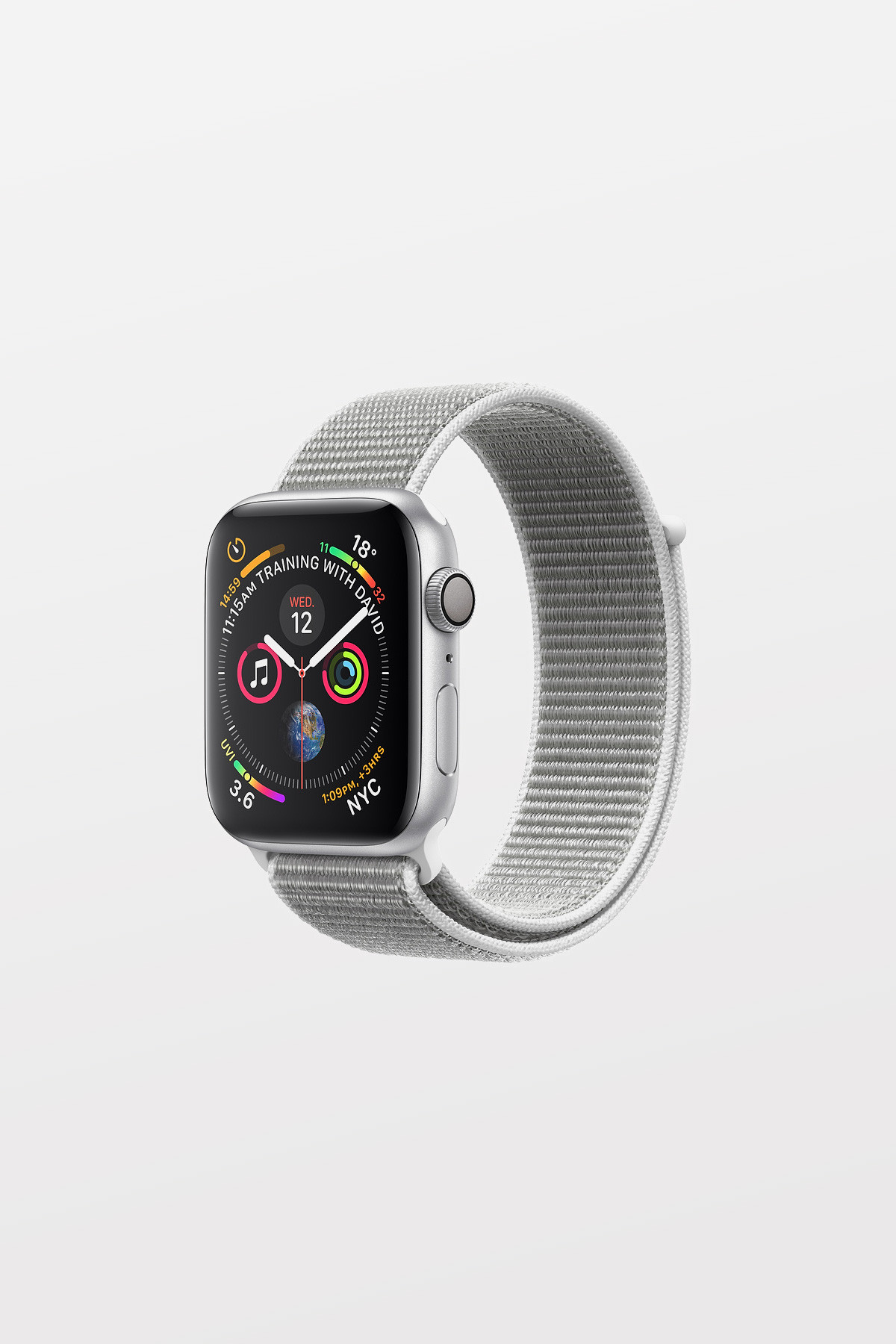Apple Watch Series 4 - 44mm -  Silver Aluminium Case with Seashell Sport Loop