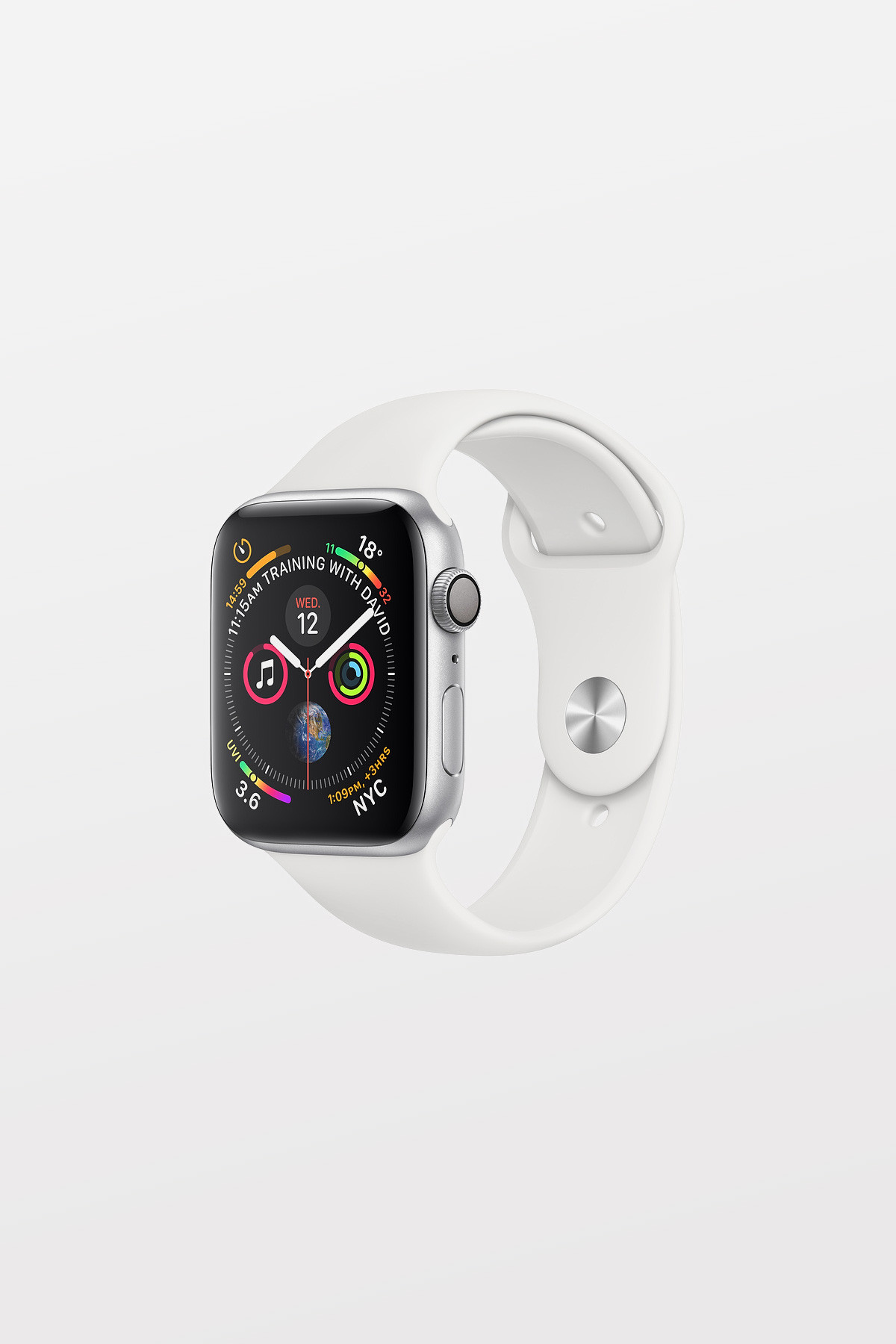 Apple Watch Series 4 - 44mm -  Silver Aluminium Case with White Sport Band