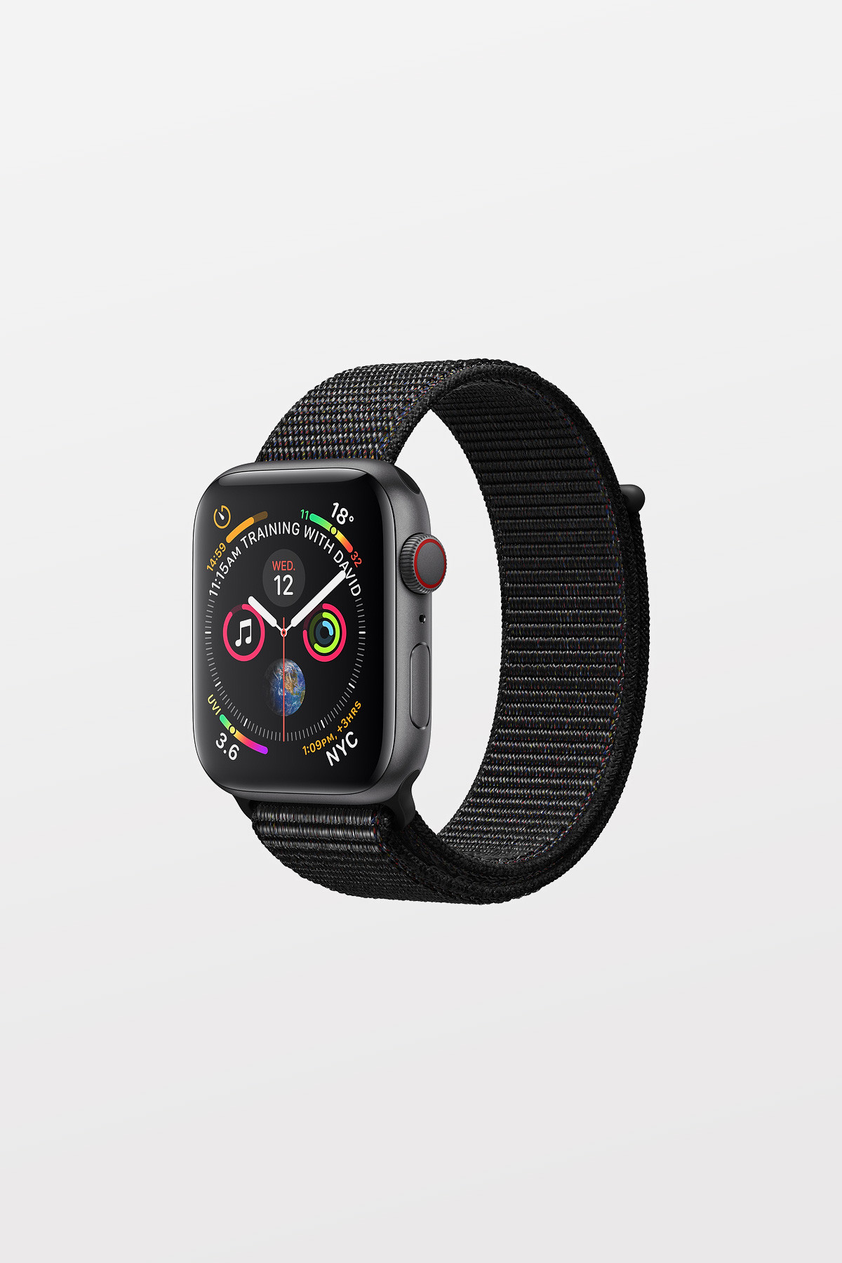 Apple Watch Series 4 Cellular - 40mm - Space Grey Aluminium Case with Black Sport Loop