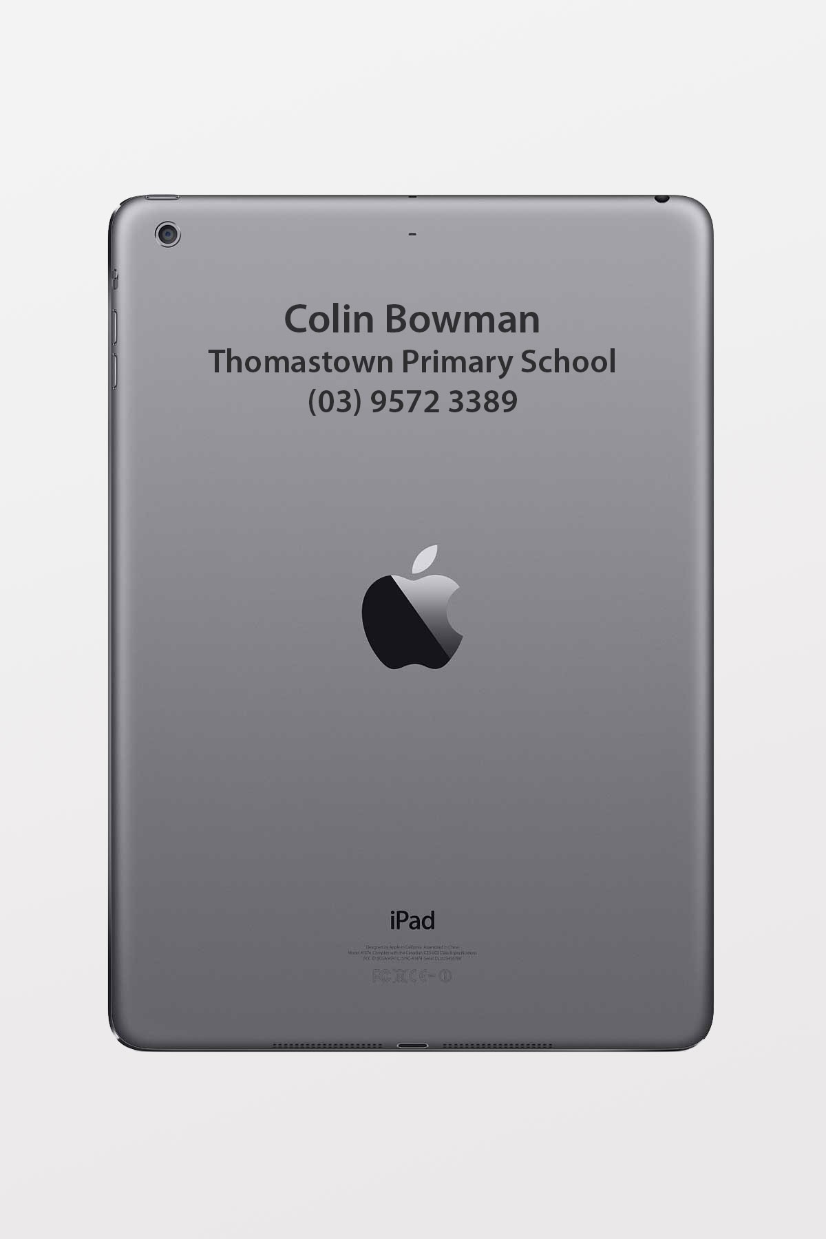 Laser Engraving service for iPad: (insert text/font thickness here)