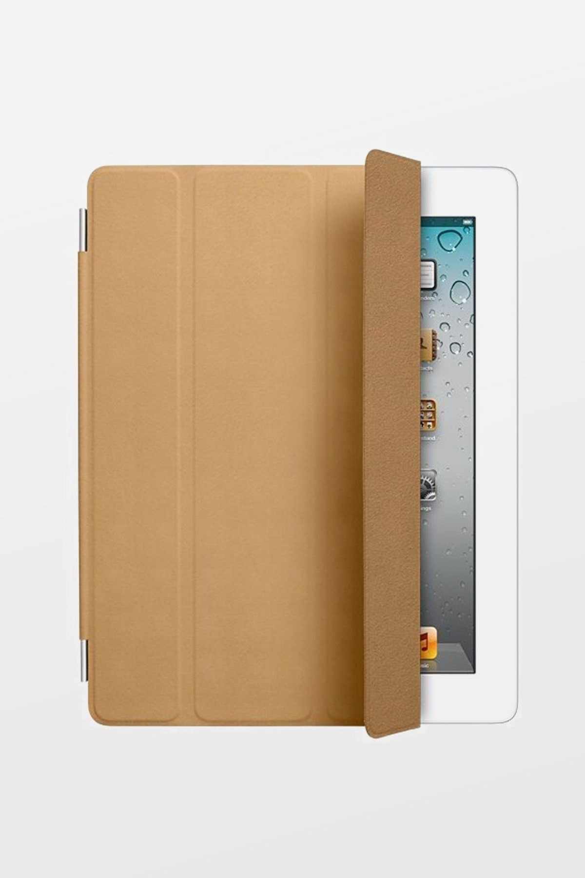 iPad 2/3/4 Smart Cover - Leather - Tan