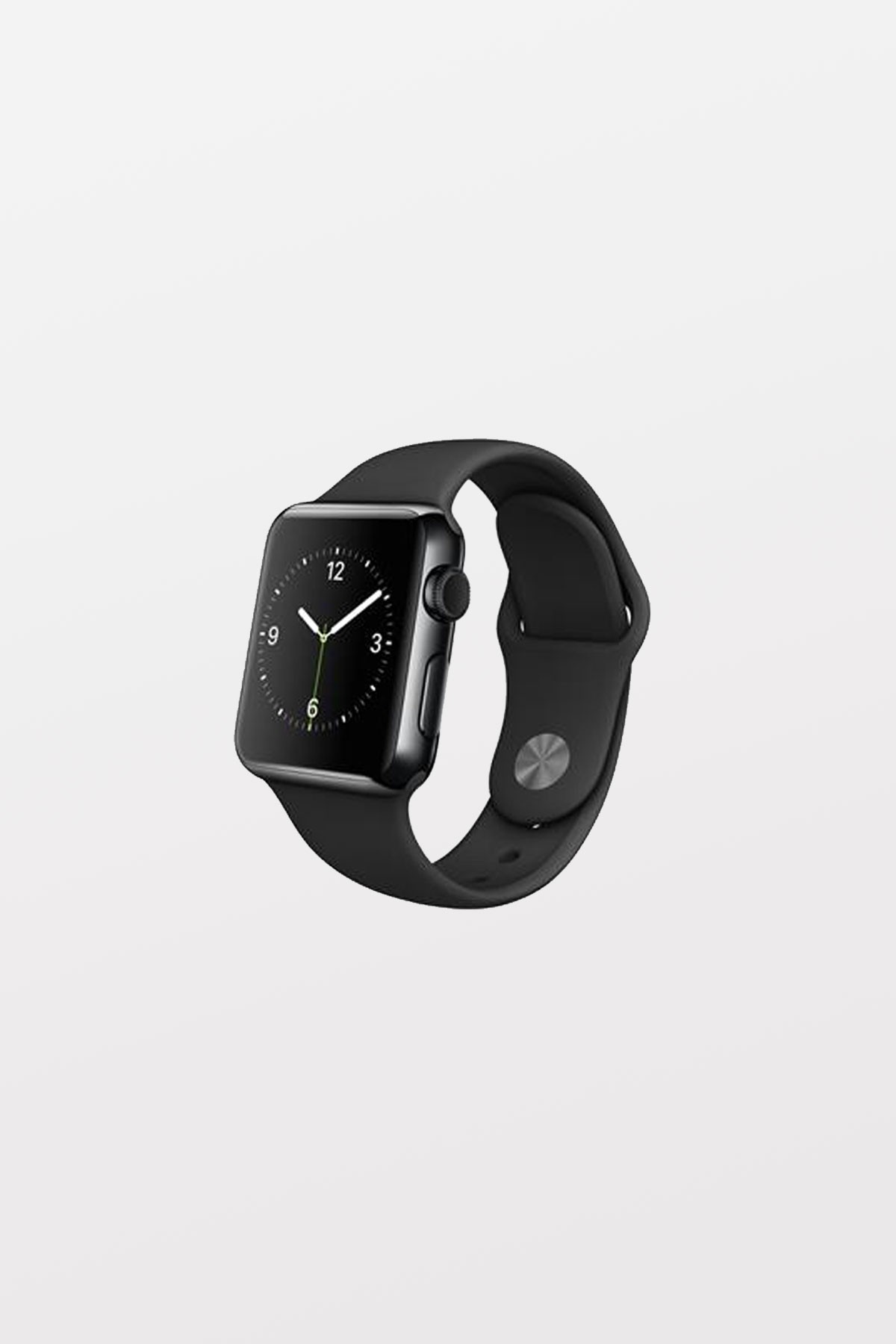 Apple Watch 38mm - Stainless Steel - Space Grey - Black Sport Band