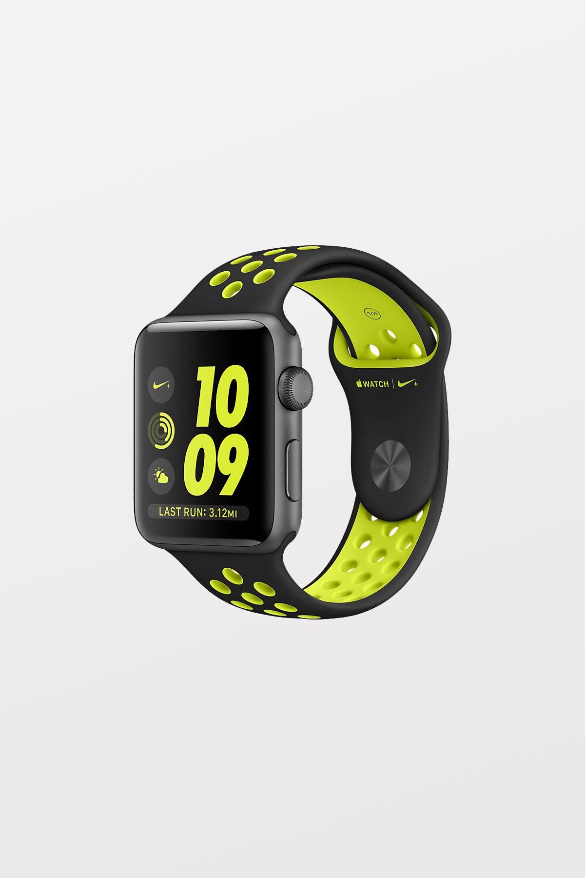 Apple Watch Series 2 Nike+ - 38mm - Space Grey Aluminium, Black/Volt Nike Sport Band - Refurbished