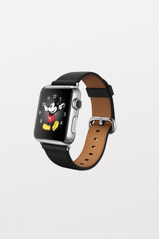 Apple Watch 42mm - Stainless Steel - Light Brown Leather Loop (Medium)
