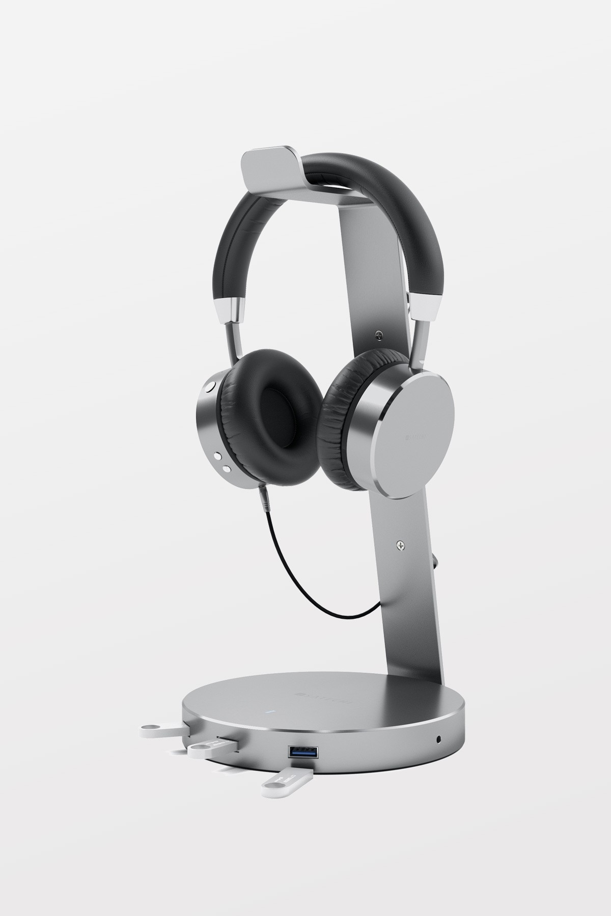 SATECHI Aluminium USB 3/0 Headphone Stand - Space Grey