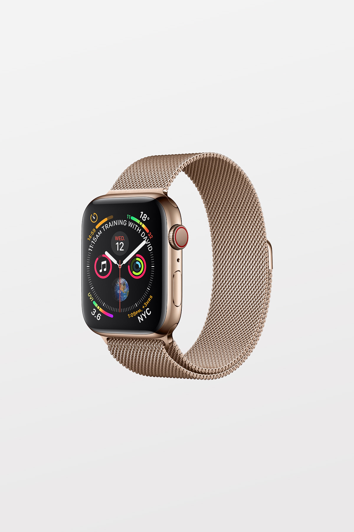 Apple Watch Series 4 GPS + Cellular - 40mm - Gold Stainless Steel Case with Gold Milanese Loop - Refurbished