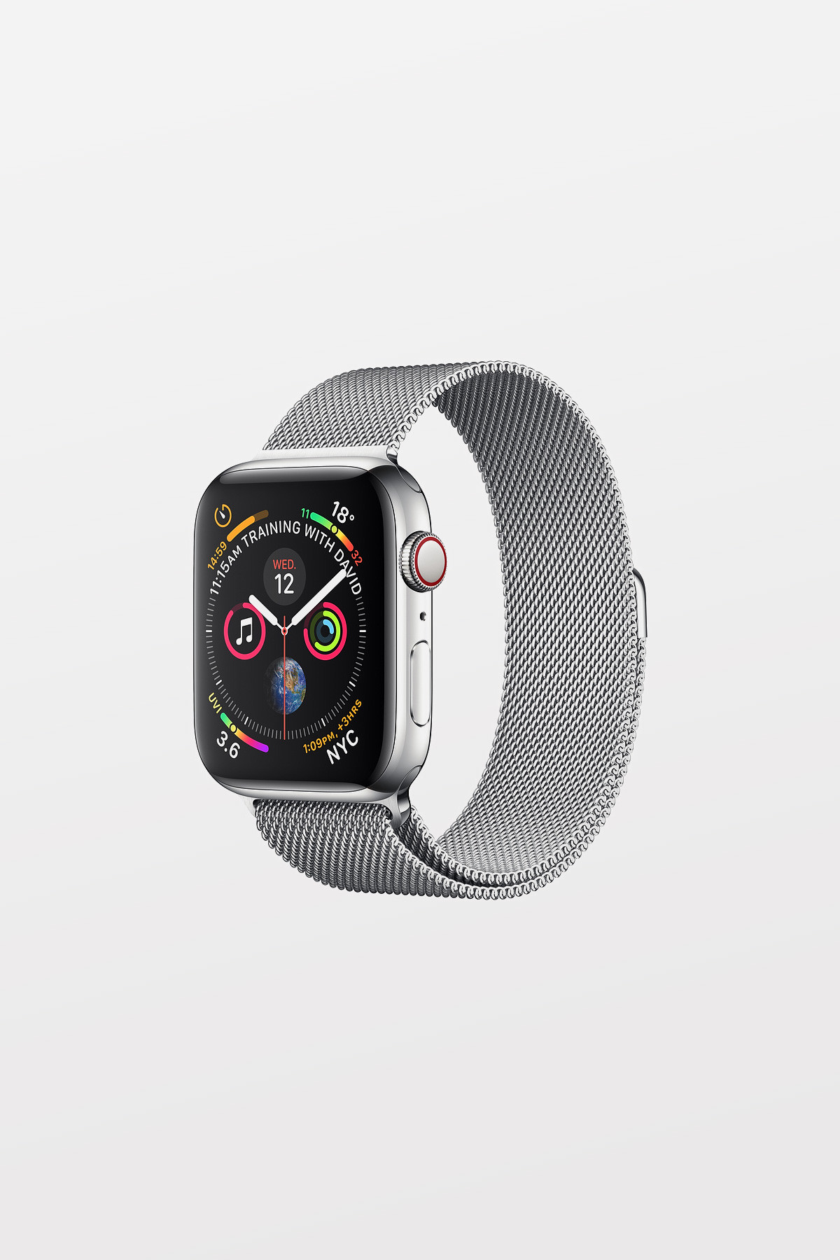 Apple Watch Series 4 Cellular - 44mm - Stainless Steel Case with Milanese Loop