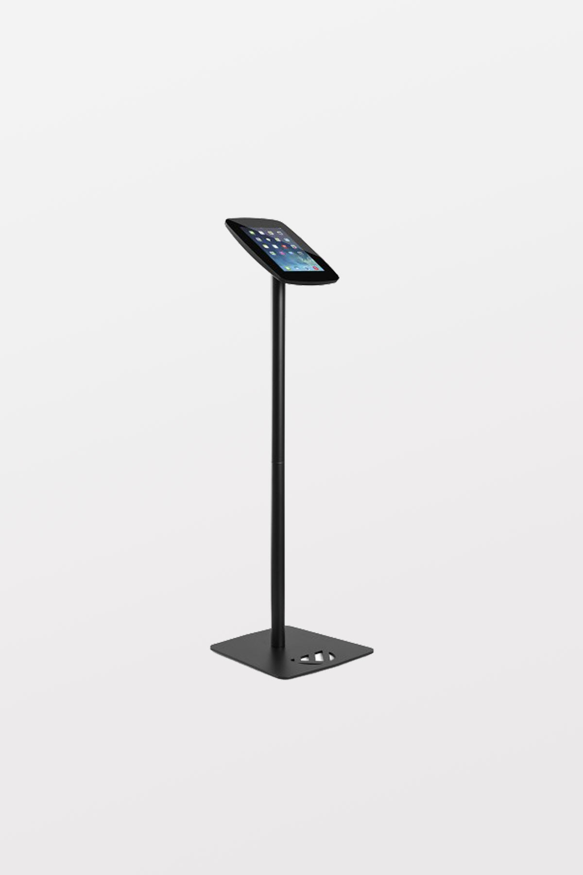 Tryten iPad Kiosk Floor Stand - Black, Closed Faceplate - Comes with Lock and 2 user keys. Includes adapter kit for iPad Air.