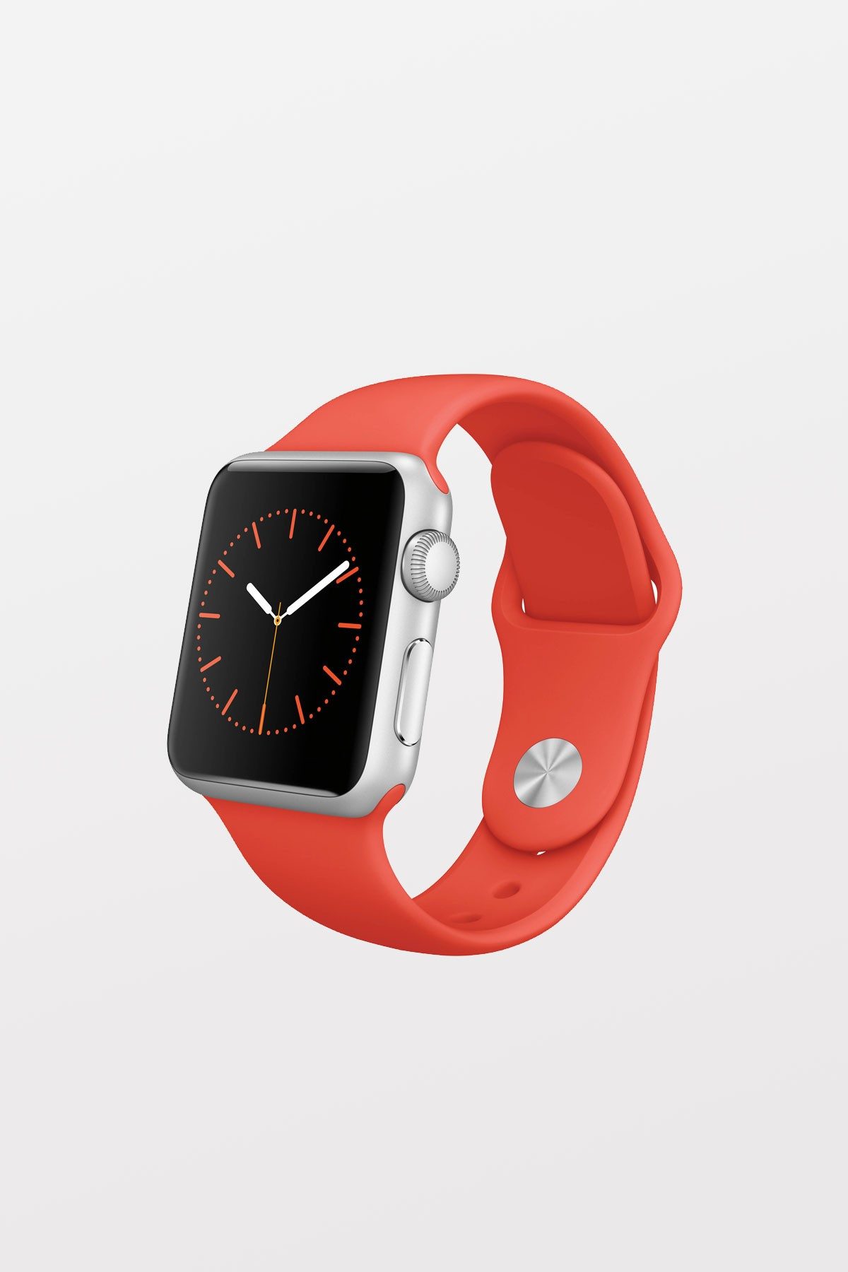 Apple Watch Sport 38mm - Silver Aluminium - Orange Sport Band