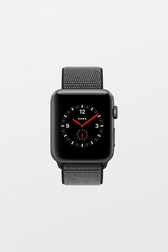 Apple Watch Series 3 GPS + Cellular - 38mm - Space Grey Aluminium with Dark Olive Sport Loop