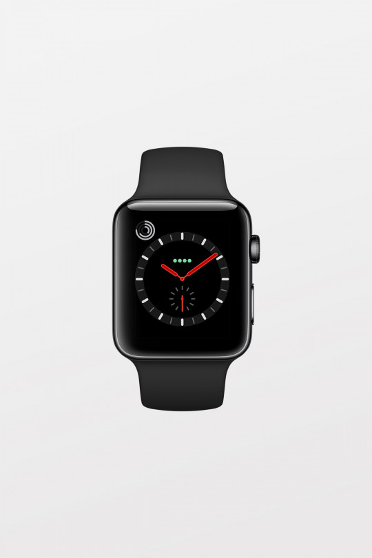 Apple Watch Series 3 GPS + Cellular - 38mm - Space Grey Aluminium with Black Sport Band - Refurbished