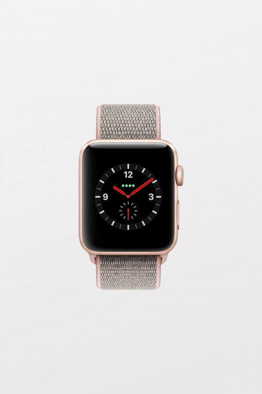Apple Watch Series 3 GPS + Cellular - 38mm - Gold Aluminium with Pink Sand Sport Loop