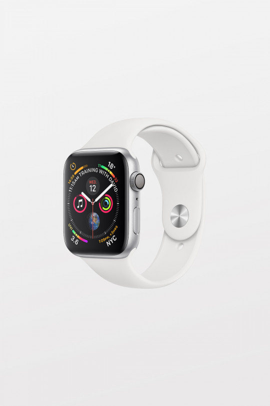 Apple Watch Series 4 - 40mm -  Silver Aluminium Case with White Sport Band