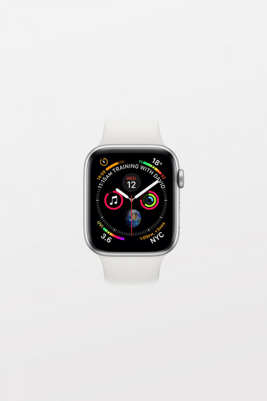 Apple Watch Series 4 GPS + Cellular - 40mm - Silver Aluminium Case with White Sport Band - Refurbished