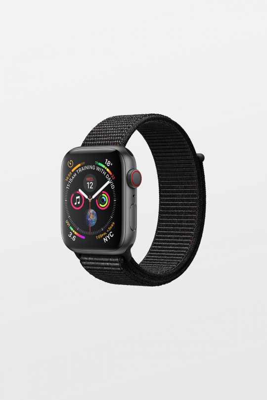 Apple Watch Series 4 Cellular - 44mm - Space Grey Aluminium Case with Black Sport Loop - Refurbished