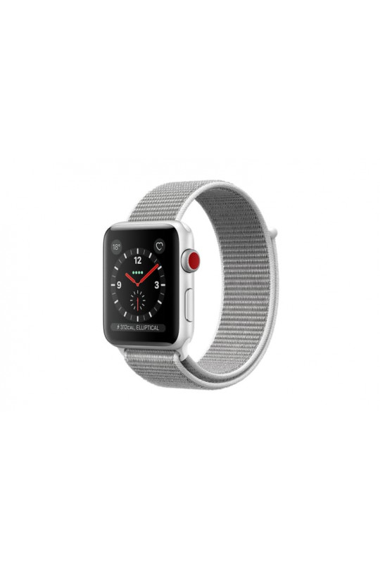 Apple Watch Series 3 GPS + Cellular - 38mm - Silver Aluminium with Seashell Sport Loop - Refurbished
