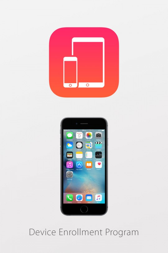 Apple DEP Device Enrollment Program for iPhone